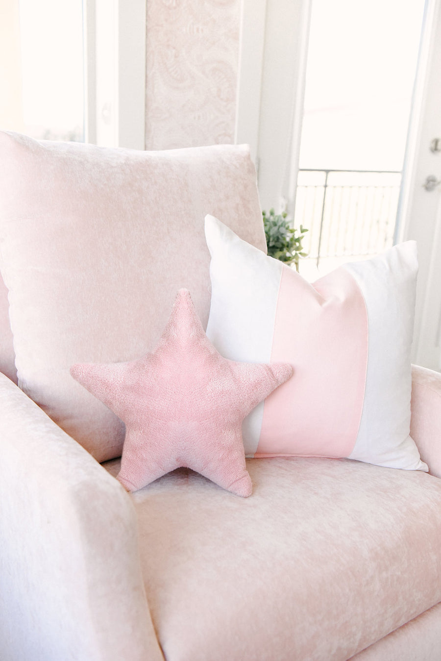 Blush Band Pillow