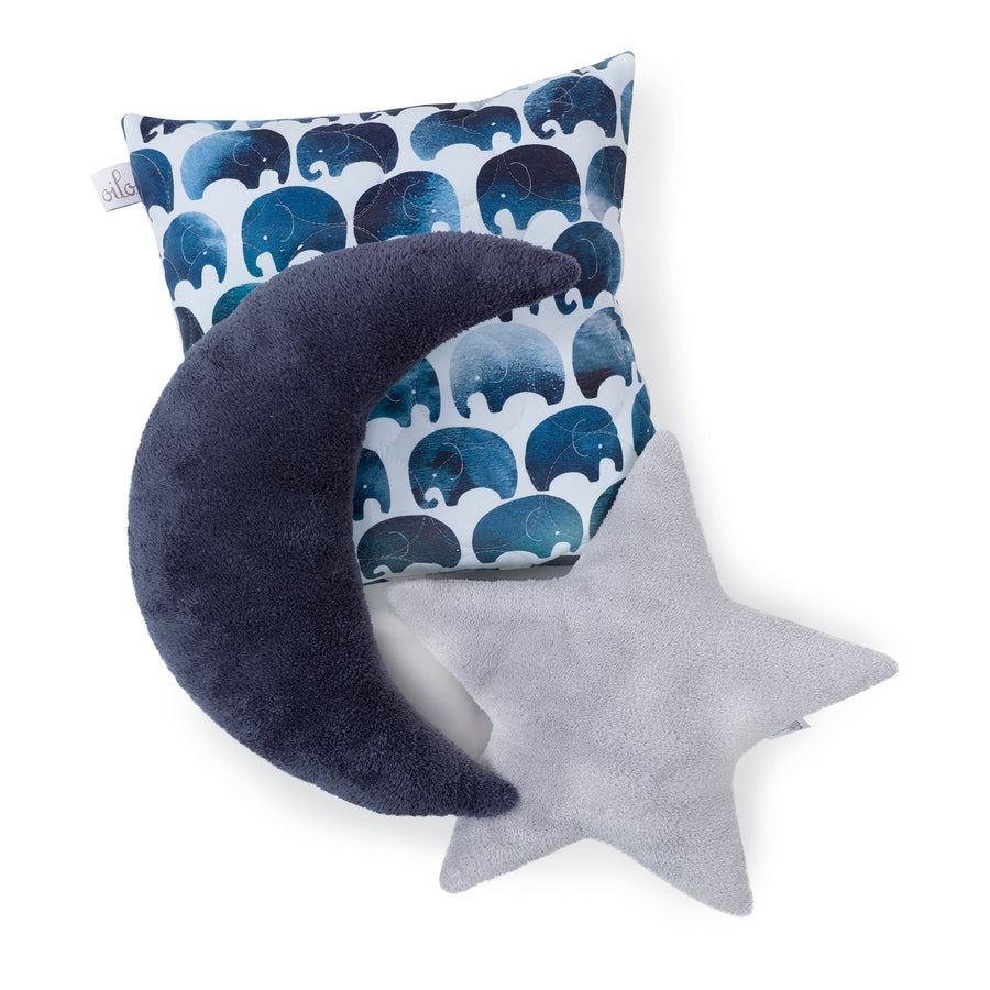 star moon and throw pillow