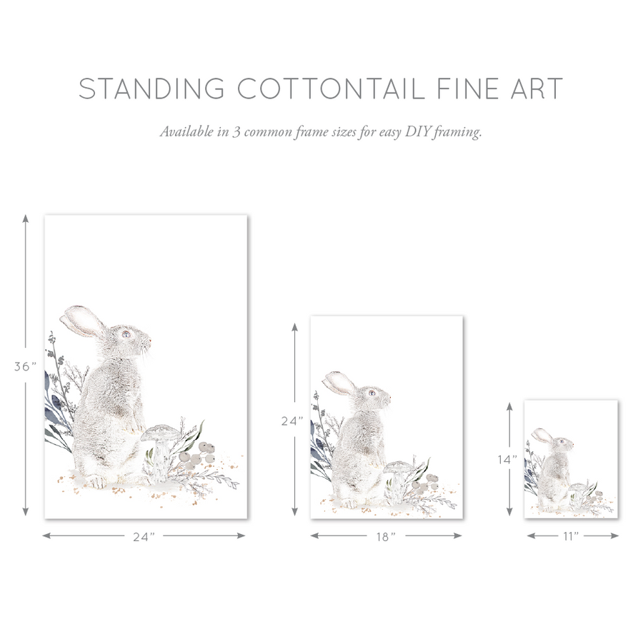 Cottontail Standing Bunny Wall Art