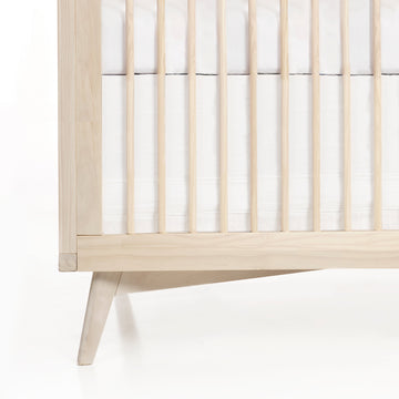 Solid Crib Skirt - White