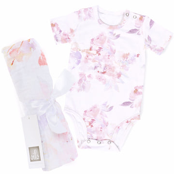 Prim Gift Set- Onesie and Swaddle