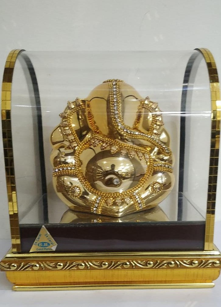 Culture Marble Golden Sitting Ganesh