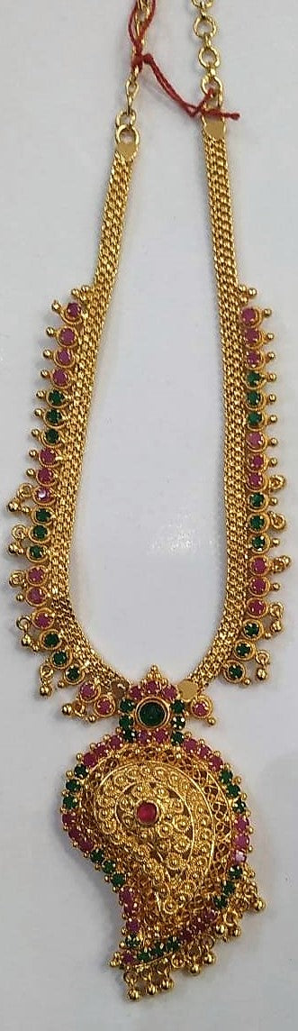 1 Gram Gold Plated Short Nacklace