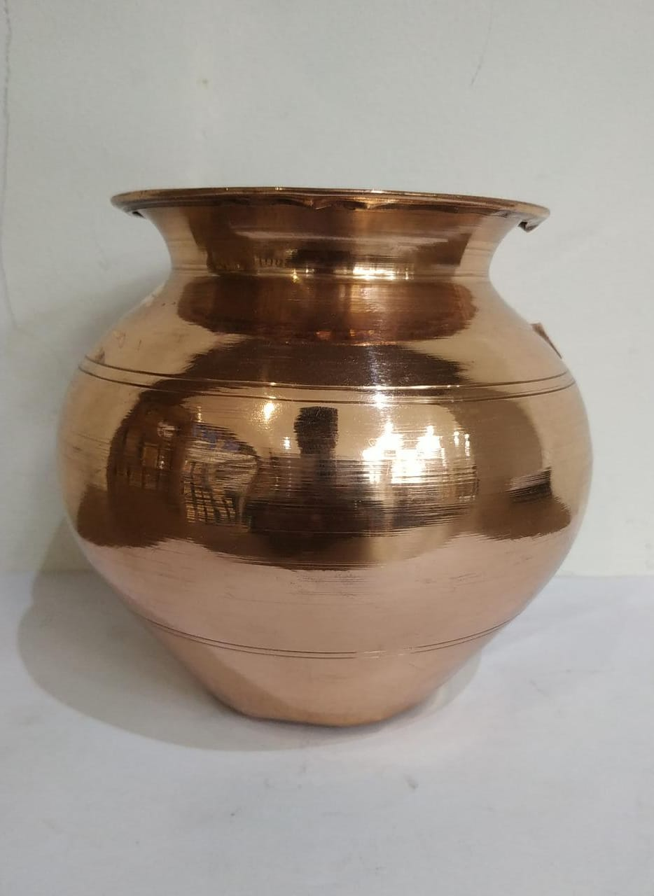 Copper Lota Plain 1Liter