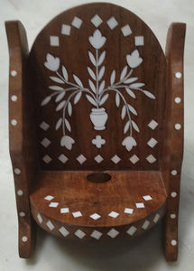Saharanpur Wood Inlay Work Mobile Stand