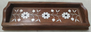 Saharanpur Wood Inlay Work Pencil Tray 9x4inch