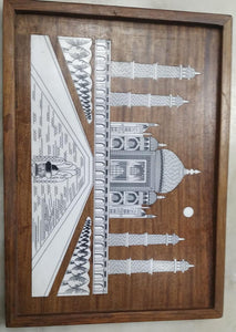 Saharanpur Wood Inlay Work Wall Hanging 11x8