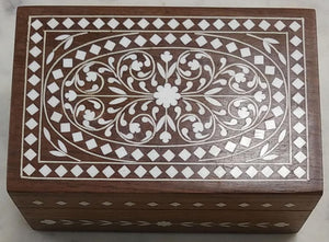 Saharanpur Wood Inlay Work Jwellery Box 6x4