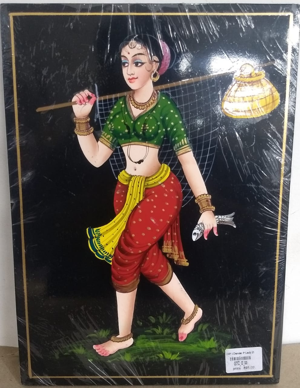 Nirmal PaintingFisher Lady 8x11inch