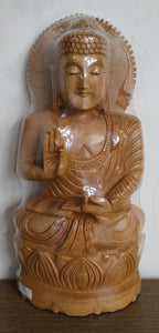 Wooden Carving Buddha 12inch