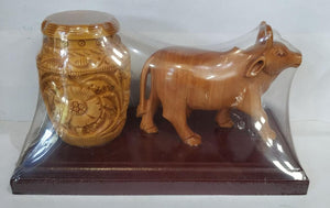 Wooden Cow With Penstand 4inch