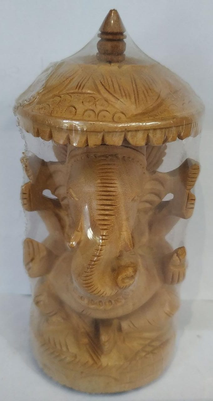 Wooden Carving Ganesh 4inch