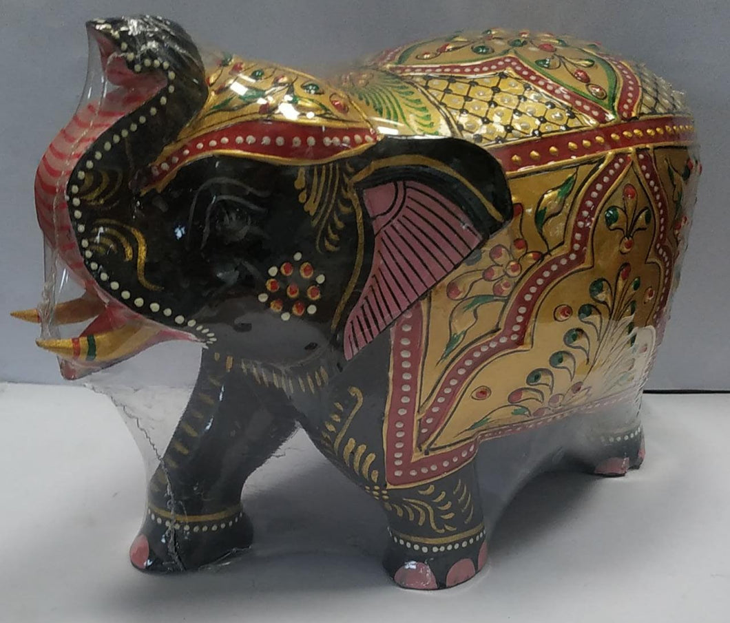Wooden Painted Elephant 5inch