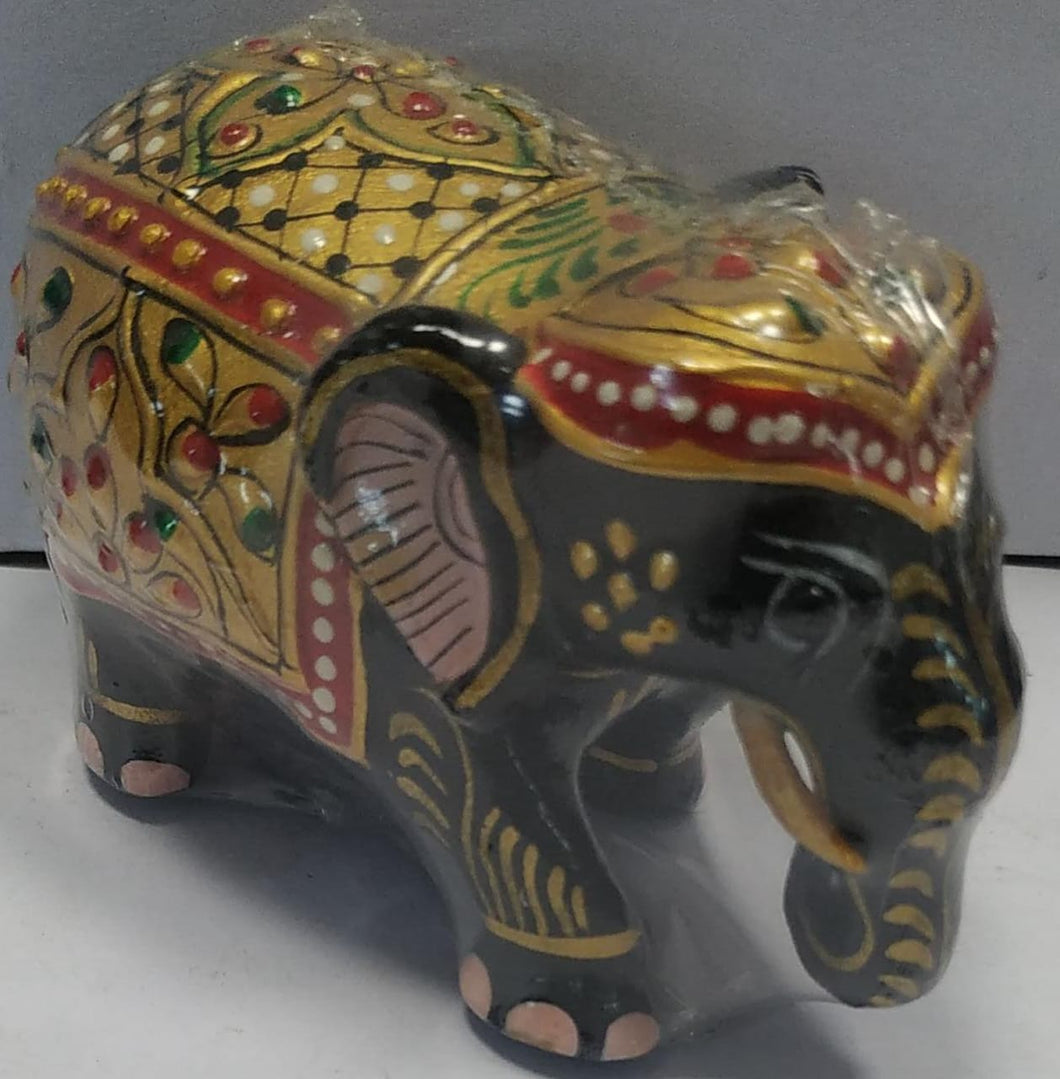 Wooden Painted Elephant 2inch