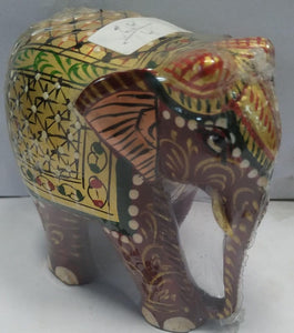 Wooden Painted Elephant 3inch
