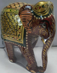Wooden Painted Elephant 4inch