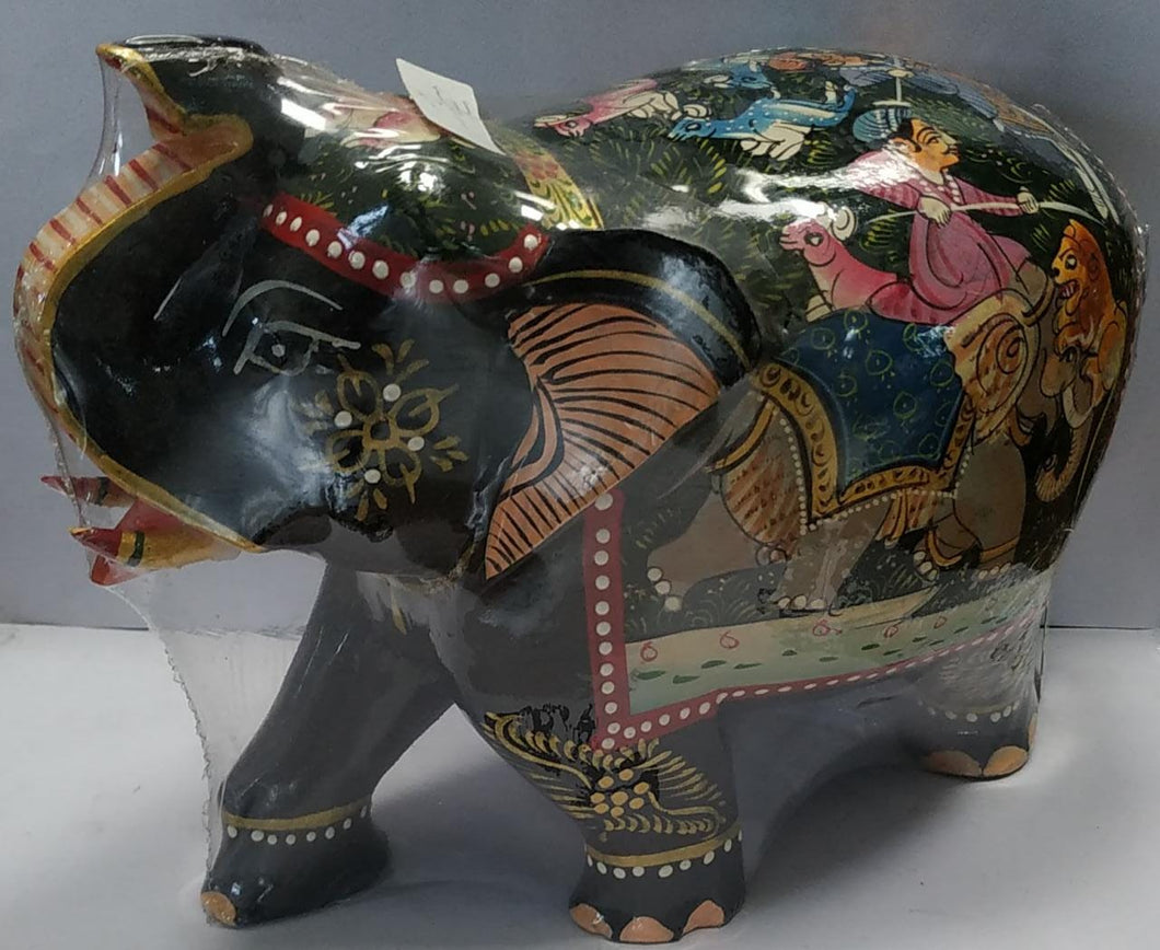 Wooden Painted Shikara Elephant 6inch