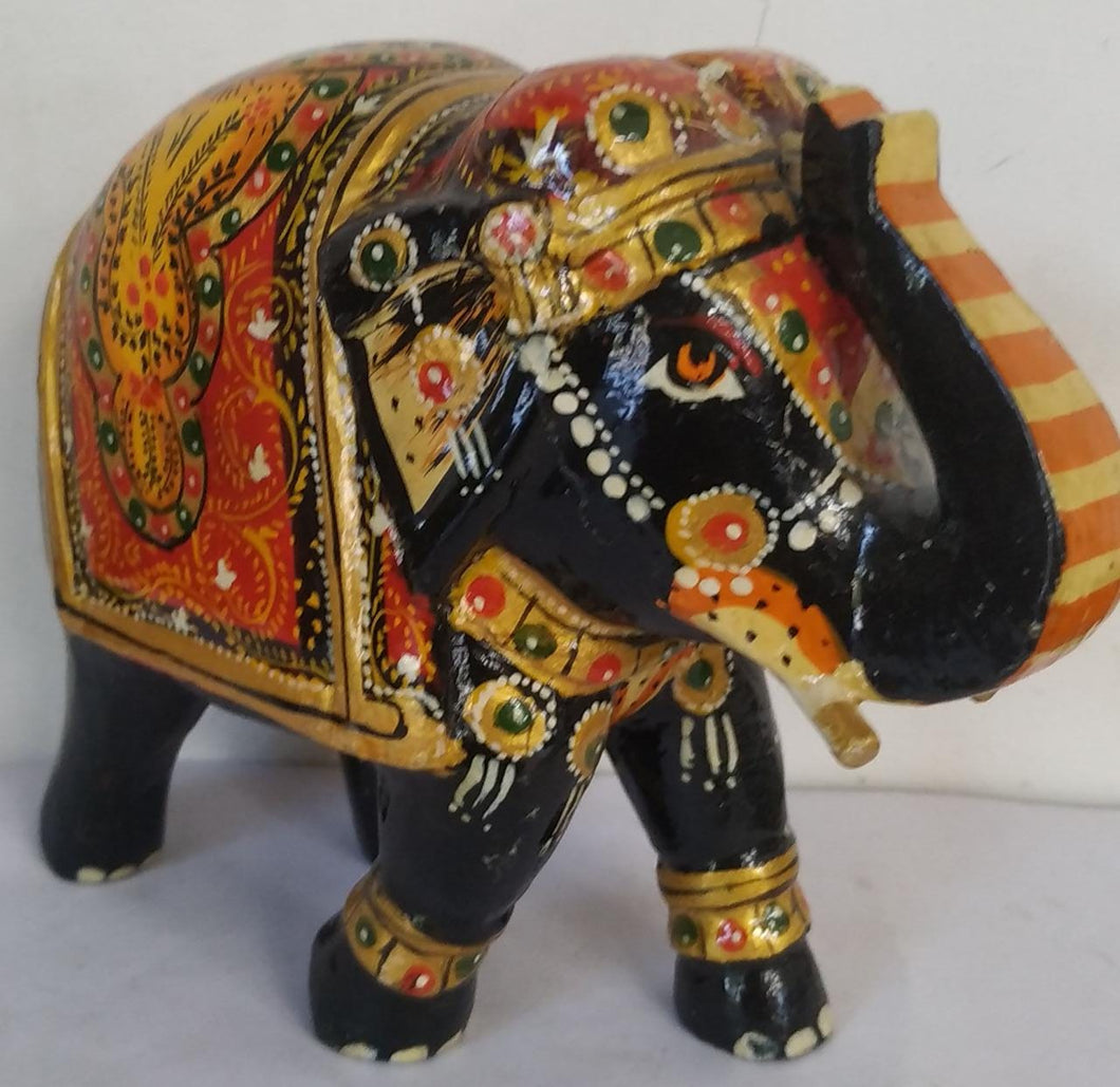 Wooden Painted Elephant 6inch