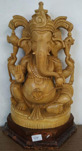 Wooden Carving Ganesh 16inch