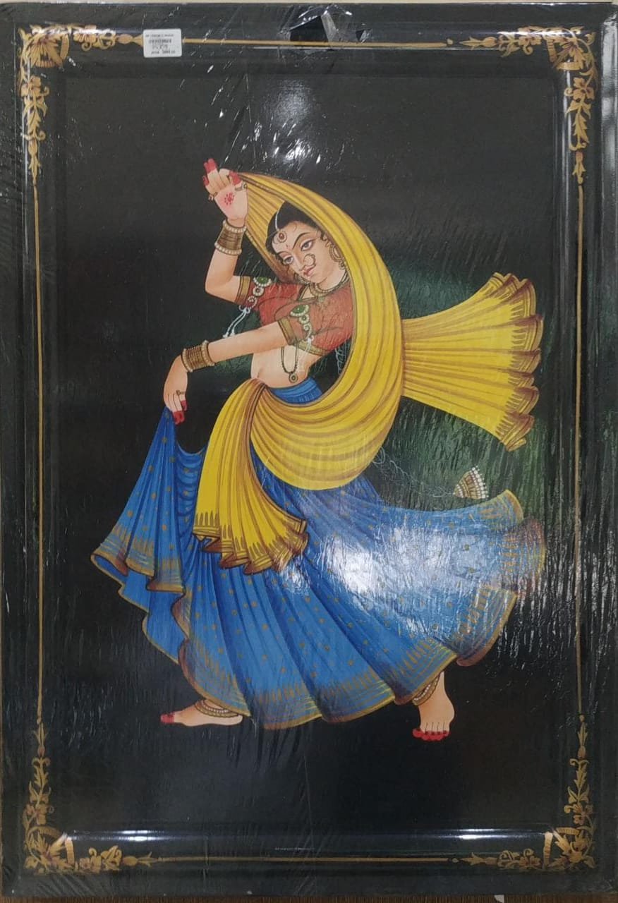 Nirmal Painting Lady Dancer With Frame 19x26