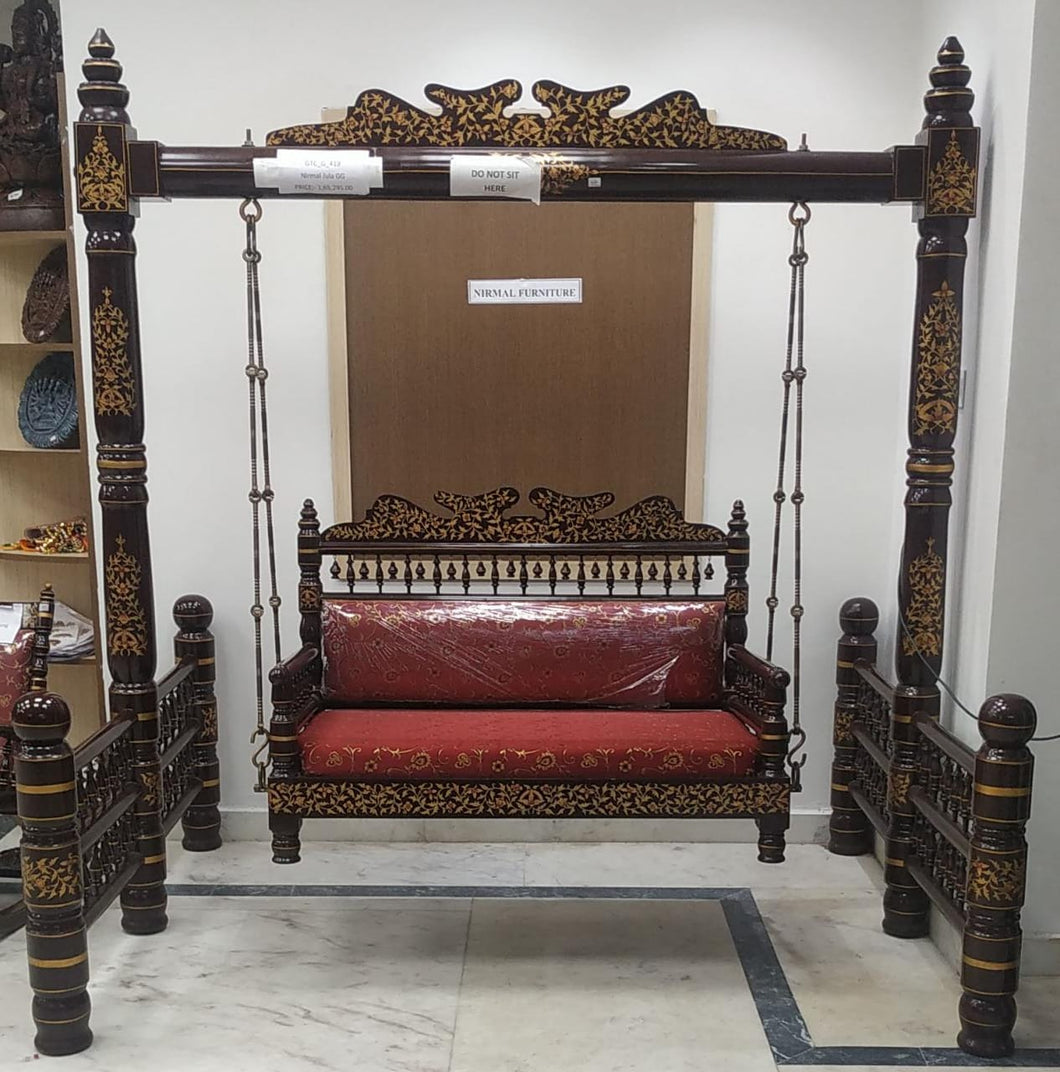 Nirmal Painted Teak Wood Jhoola