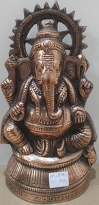 Black Metal Ganesh 6x11Inch