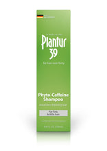 Load image into Gallery viewer, Shampoo box. Green with white writing. Plantur 39: for hair over forty. Phyto-Caffeine Shampoo for fine, brittle hair. Made in Germany