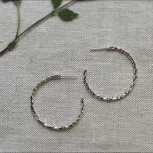Load image into Gallery viewer, Vine Hoop Earrings