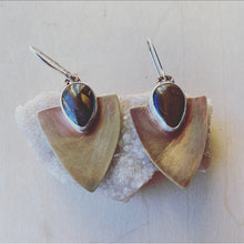 Load image into Gallery viewer, Arrow Earrings - Tigers Iron
