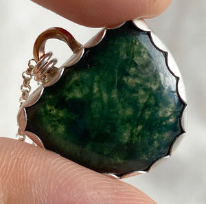 Forest Dweller Necklace - Moss Agate