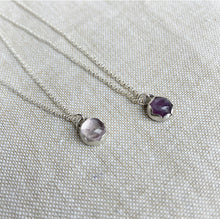 Load image into Gallery viewer, Amethyst Necklace - Sterling Silver