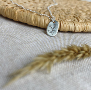 Calendula Charm Necklace - Silver