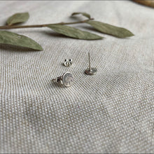 Load image into Gallery viewer, Tiny Eye Post Earrings - Sterling Silver
