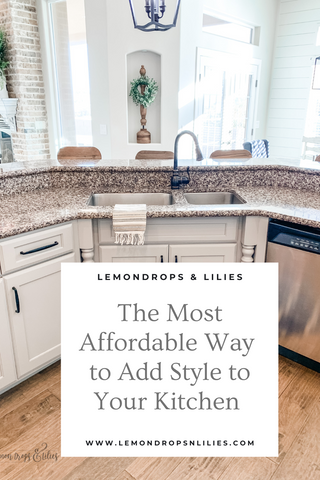 The Most Affordable Way to Add Style to Your Kitchen; photo of kitchen towel over a sink