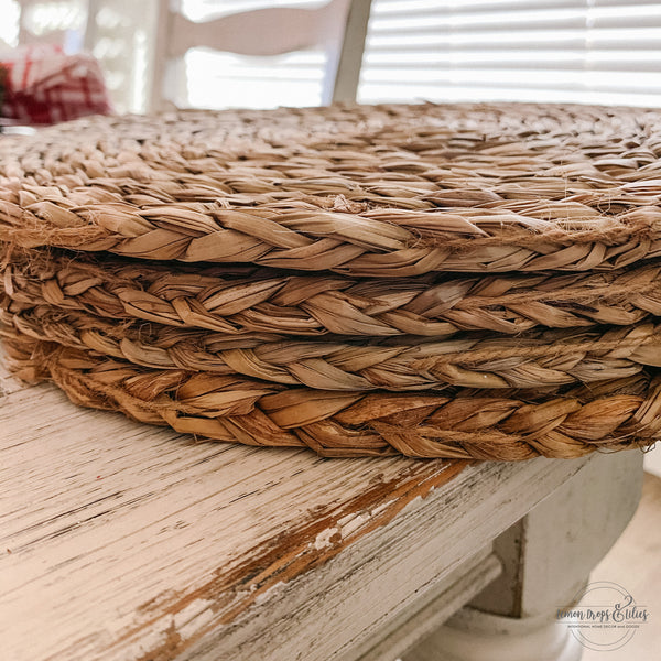 "15"" Woven Placemat Round - Set of 4"