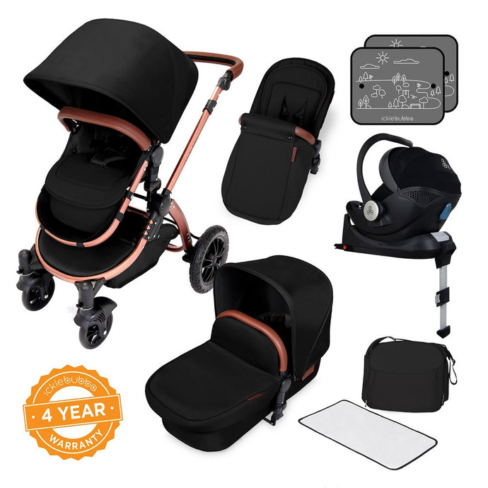 Ickle Bubba Stomp V4 Special Edition All in One Mercury I-Size Isofix Travel System - Bronze Chassis