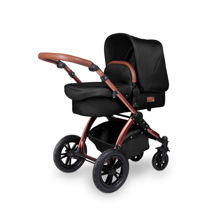Stomp V4 2 In 1 Carrycot & Pushchair - Midnight / Bronze