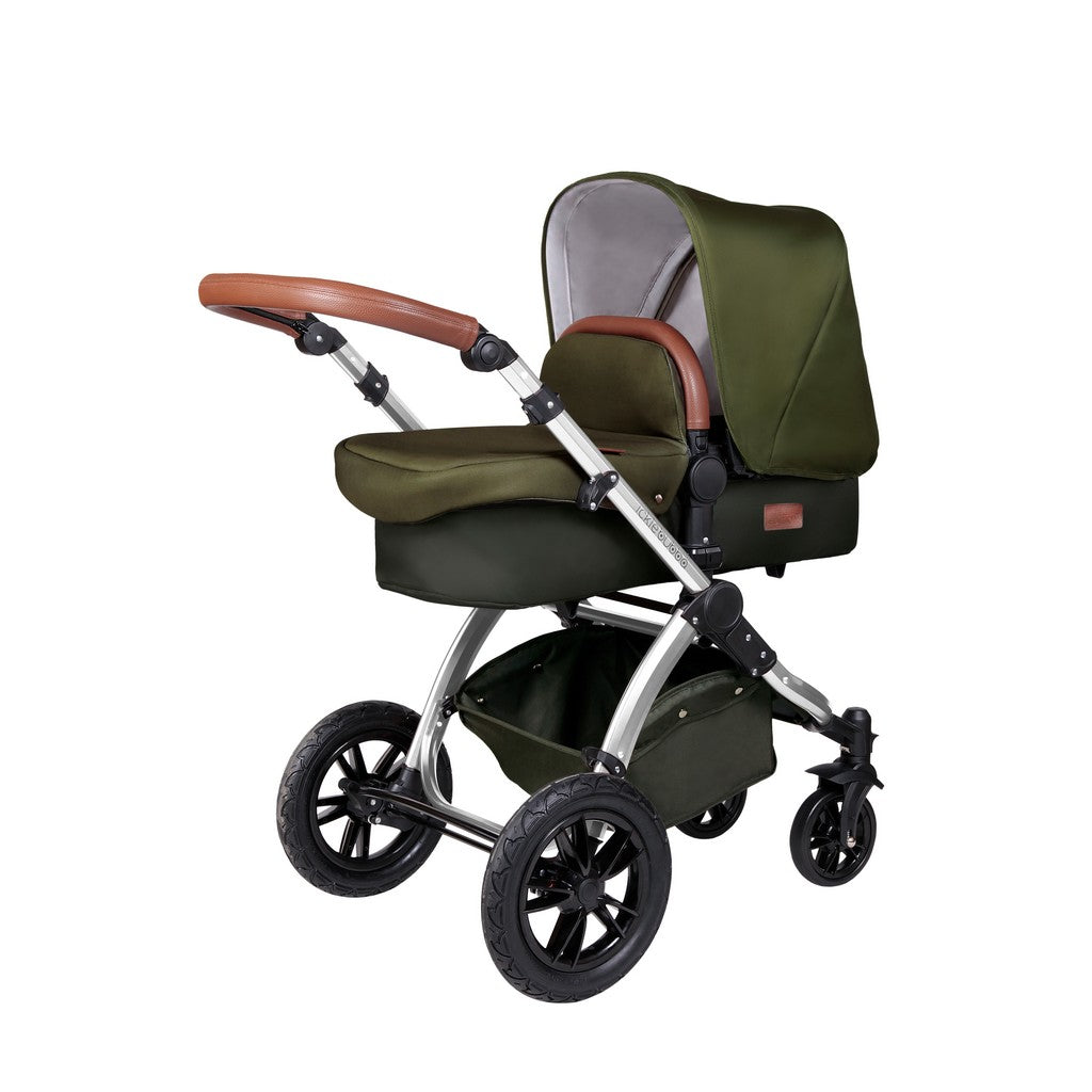 Stomp V4 2 In 1 Carrycot & Pushchair - Woodland / Chrome