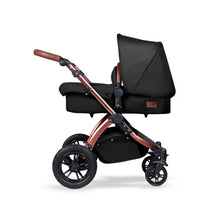 Load image into Gallery viewer, Stomp V4 I-Size Travel System with Mercury Car Seat & Isofix Base - Midnight / Bronze