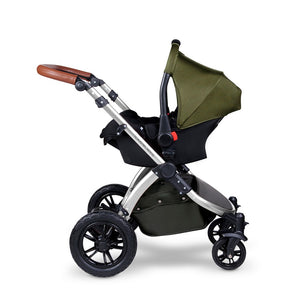 Ickle Bubba Stomp V4 Special Edition All in One Galaxy I-Size Isofix Travel System - Chrome Chassis