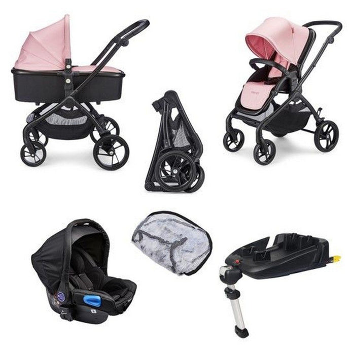 Plumo Travel System Package (incl. Car Seat & Isofix Base) - Rose Pink