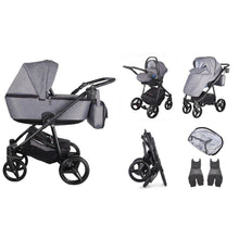 Load image into Gallery viewer, Santino Travel System Package - Graphite