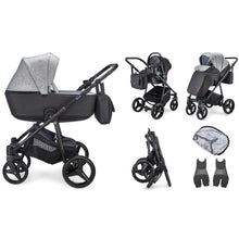 Load image into Gallery viewer, Santino Travel System Package - Pepper Grey
