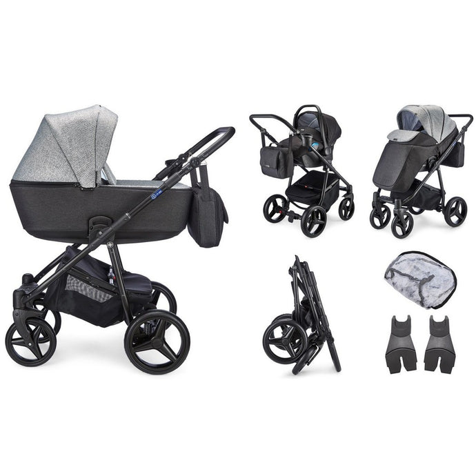 Santino Travel System Package - Pepper Grey