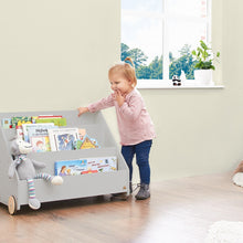 Load image into Gallery viewer, Pinolino Children's Bookcase On Wheels 'Lasse' - Grey