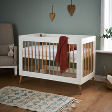 Load image into Gallery viewer, Obaby Maya Mini Cot Bed - White/Natural