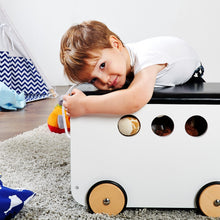 Load image into Gallery viewer, Pinolino Toy Chest On Wheels 'Jim' - White