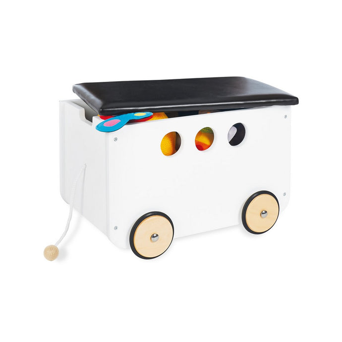 Pinolino Toy Chest On Wheels 'Jim' - White