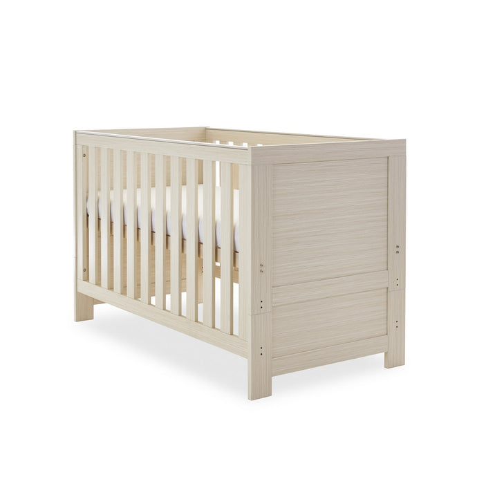 Obaby Nika Cot Bed - Oatmeal