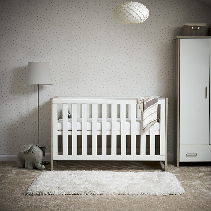 Nika Cot Bed - Grey Wash/White